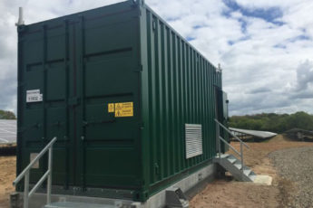 Storing equipment on site for renewable energy installations width=