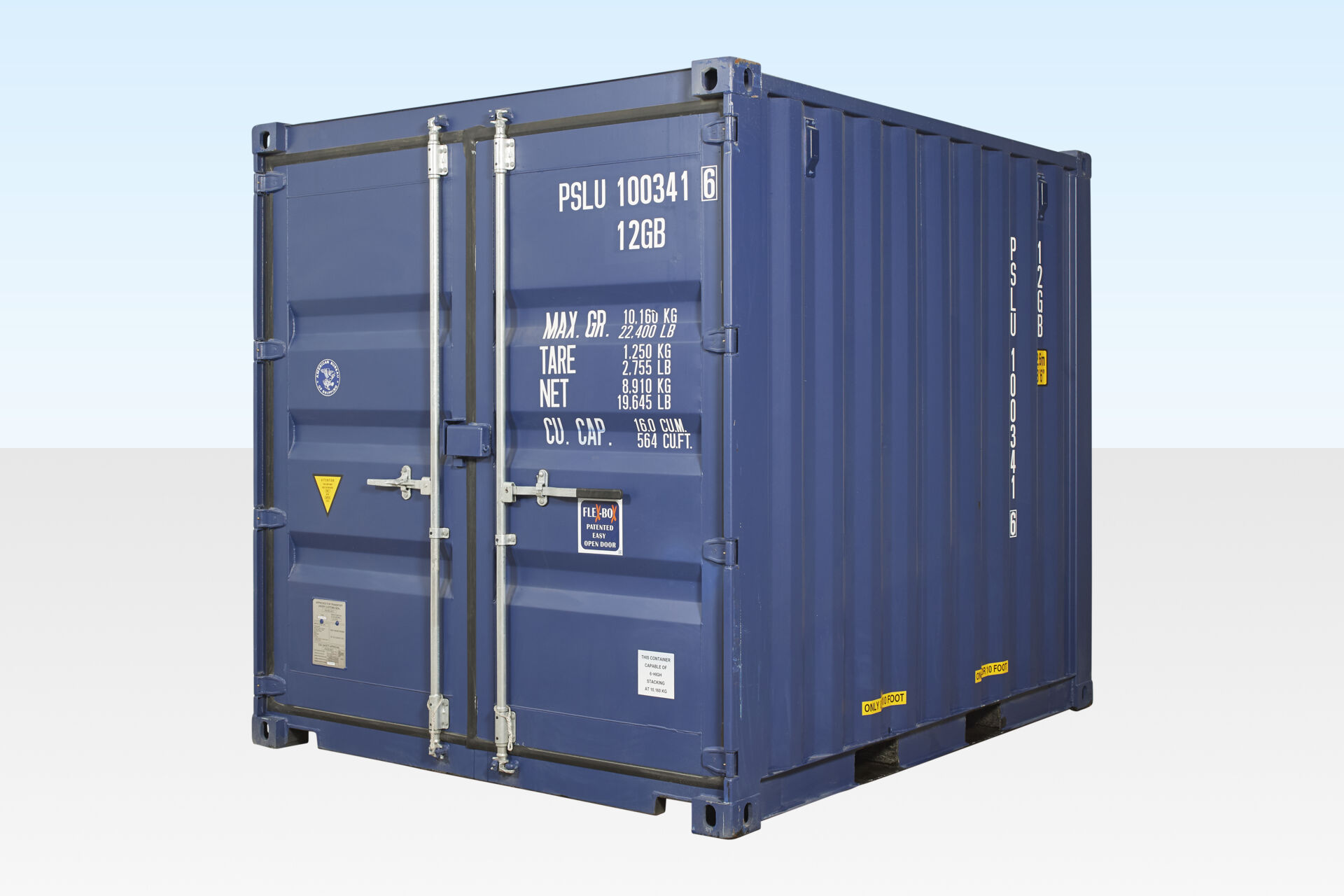 10ft Shipping Container for Sale (Blue) - Portable Space