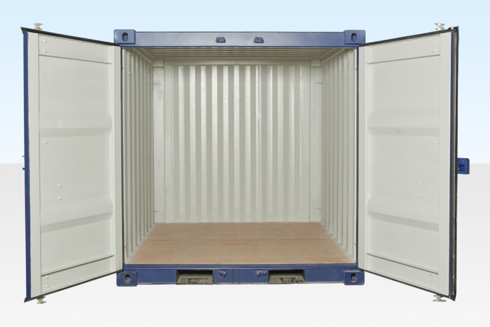 8ft Container for Hire. Doors Open.