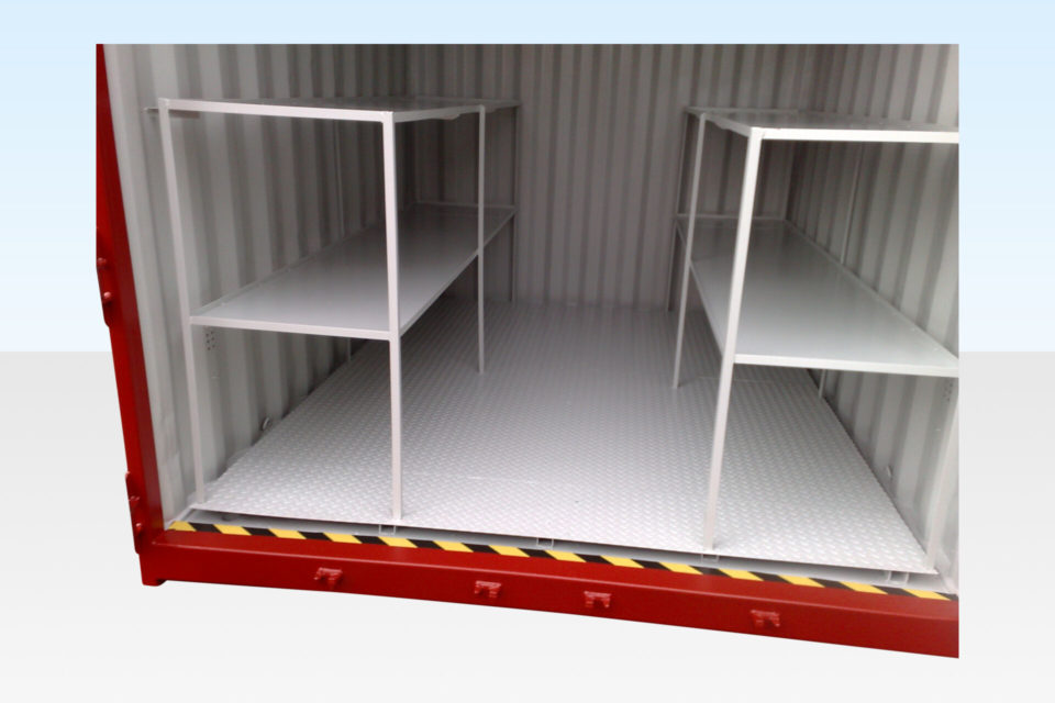 Internal View of Chemical Storage Container