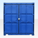 10ft Bunded Storage Container for Sale. End Doors Closed.