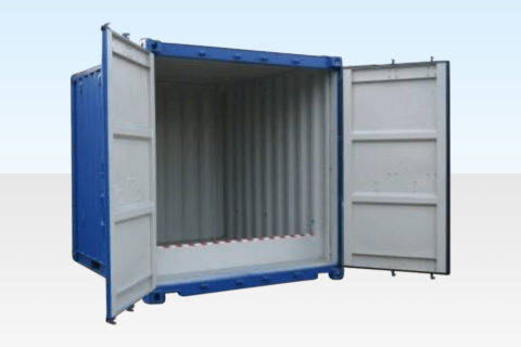 For Sale - 10ft Bunded Chemical Storage Container. Raised Floor. Doors Open