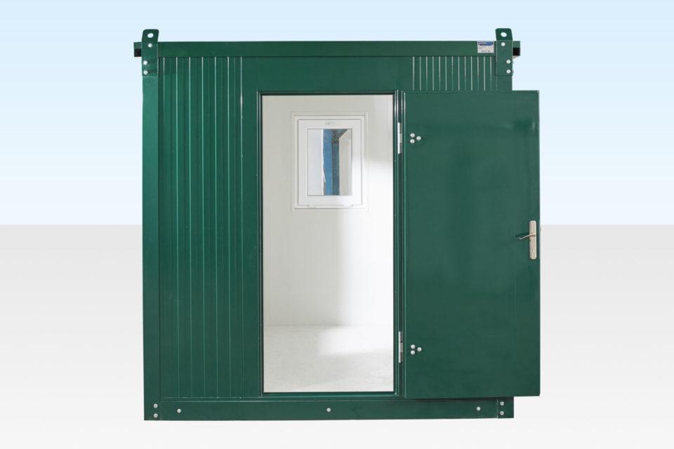 Flat Packed Office 2m - Door Open