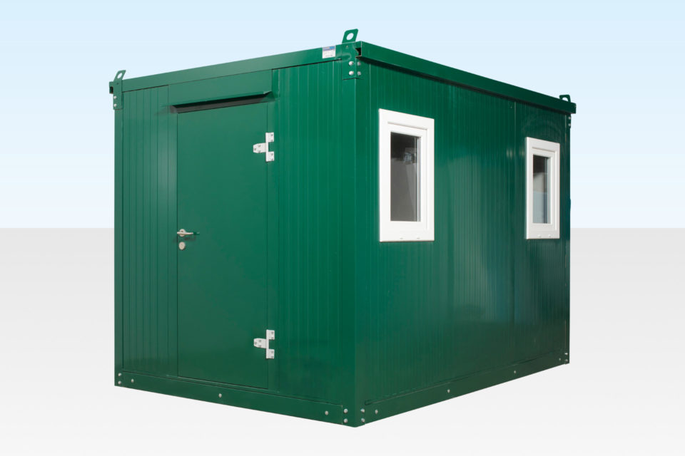 3m flat pack office cabin with door closed