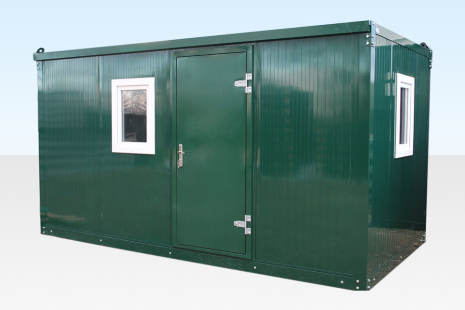 4m Flat Pack Office Cabin Aseembled