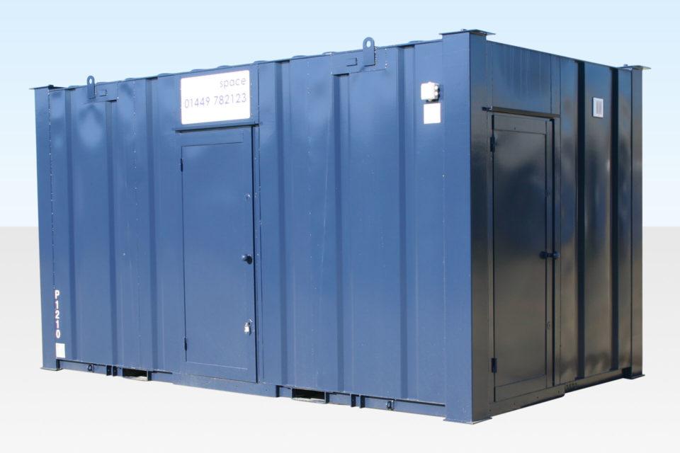 32ft Steel Toilet Cabin External View