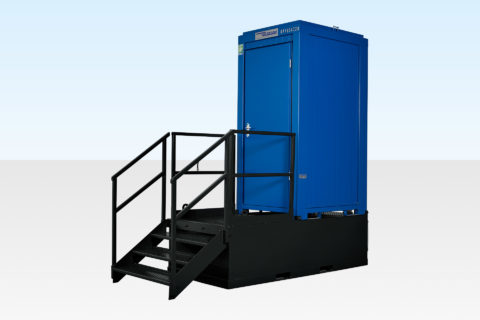 Waste tank for single mains toilet