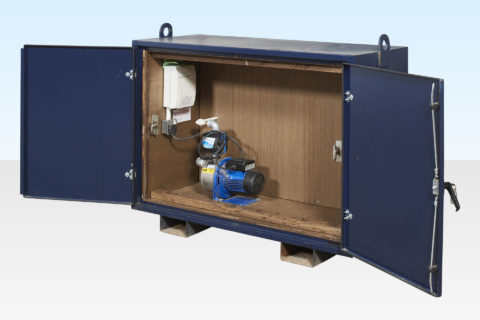 Water Pump in Cabinet