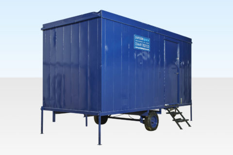Exterior mobile steel cabin