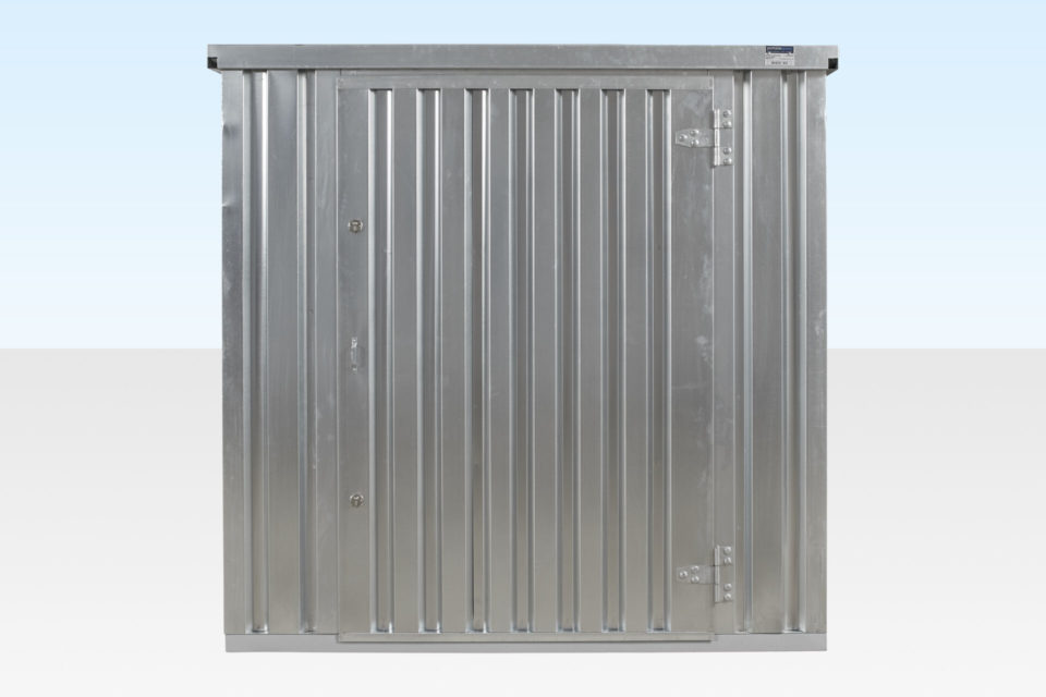 Small Flat Pack Storage Container. 2m Galvanised