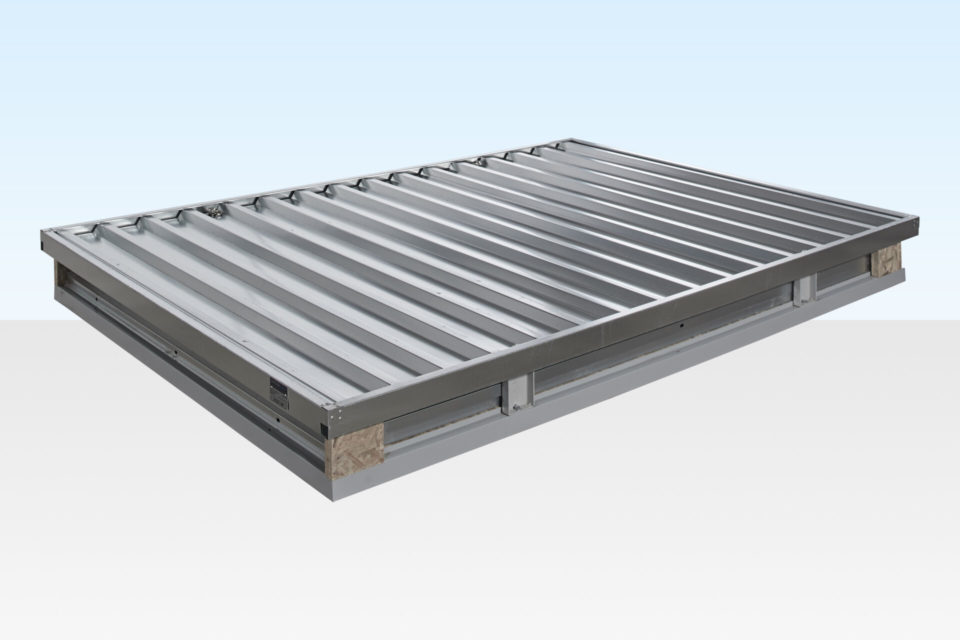 3m Flat Pack Galvanised Store. Not Assembled.