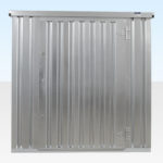 Front view of Flat Pack Storage Container. Assembled