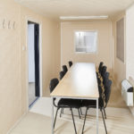 Portable Office / Meeting Room Cabin - Internal View