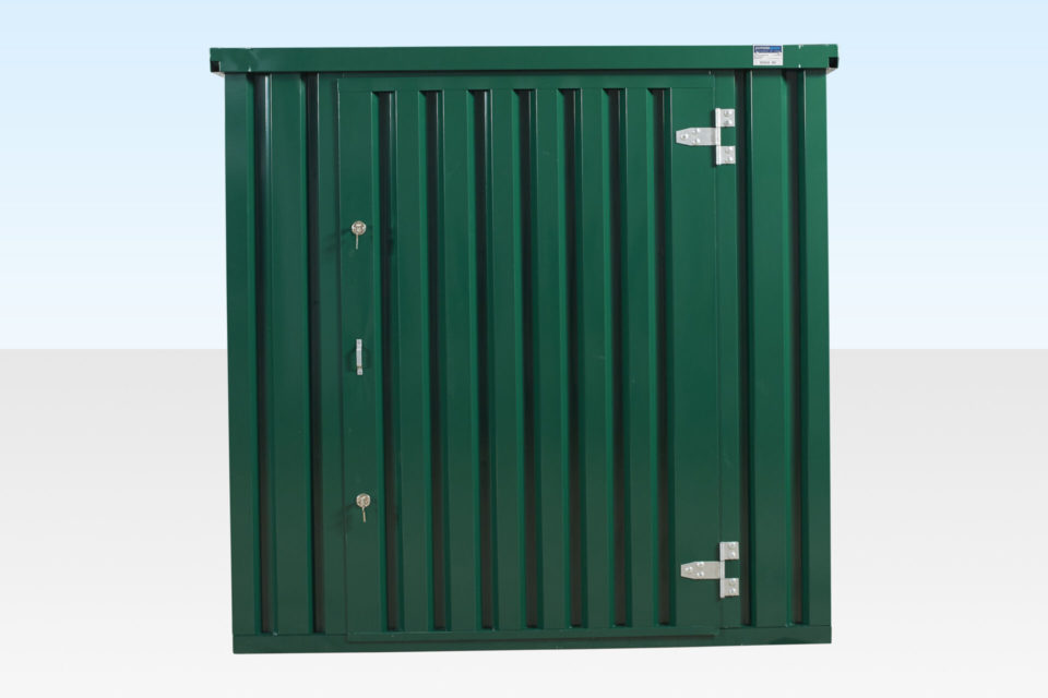 Secure Closed Door on 3m Flat Pack Storage Container