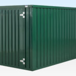 Green Flat Pack Storage Container 4m