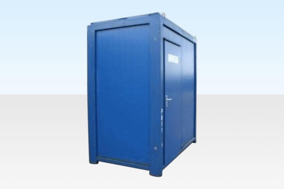 Steel Shower - Site Cabin 8ft. Door Closed