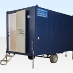 Hire a mobile office 12ft steel anti-vandal office