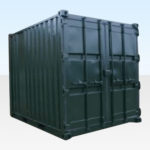 Used 10ft Shipping Container for Sale. Side Profile.