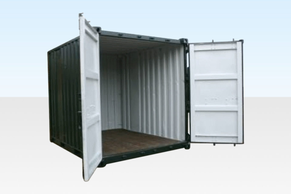 10ft Shipping Container. Doors Open.