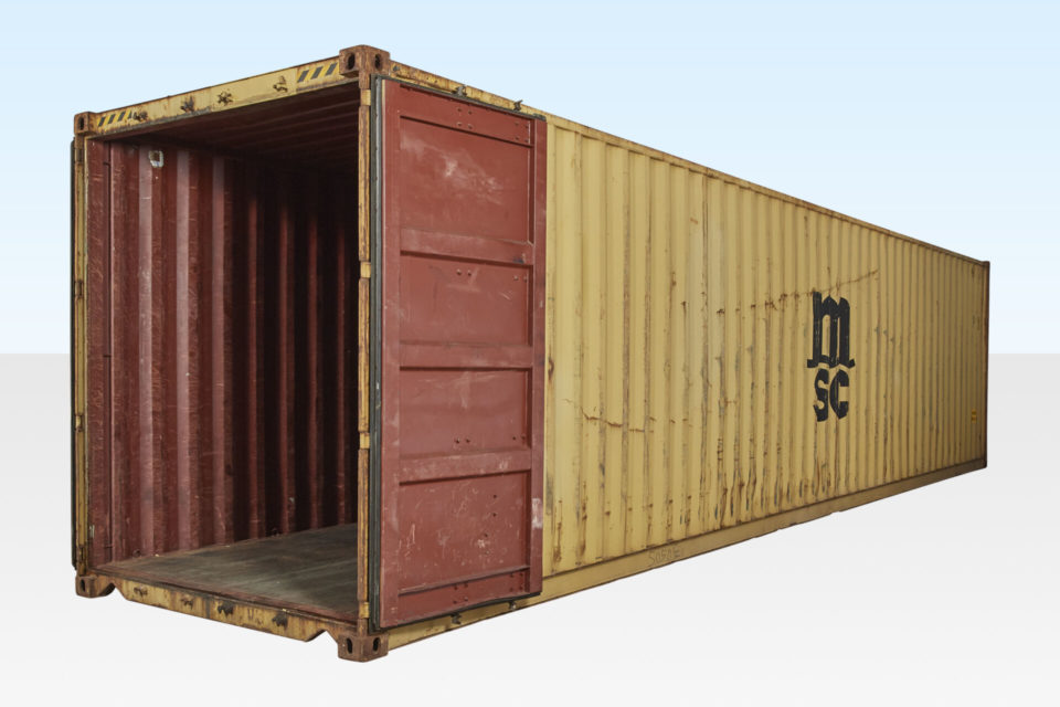 Used 40ft Shipping Container. High Cube 9ft 6in (2.9m).
