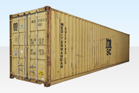 Used 40ft High Cube Shipping Container. External View.