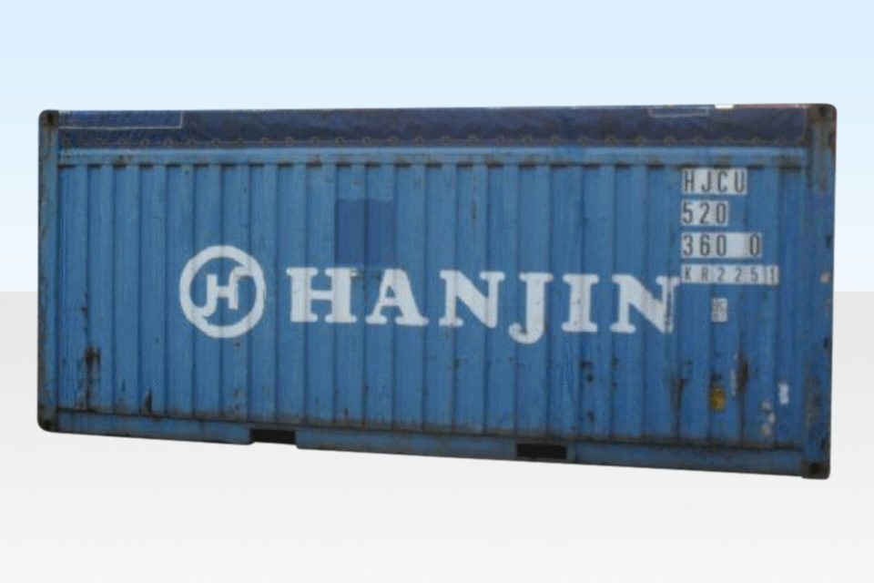 External view 20ft Open Top Container