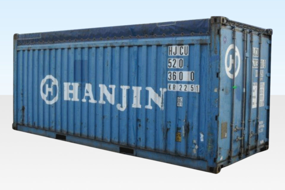 Profile View - 20ft Open Top Container
