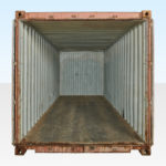 20ft Used Shipping Container - End Doors Open