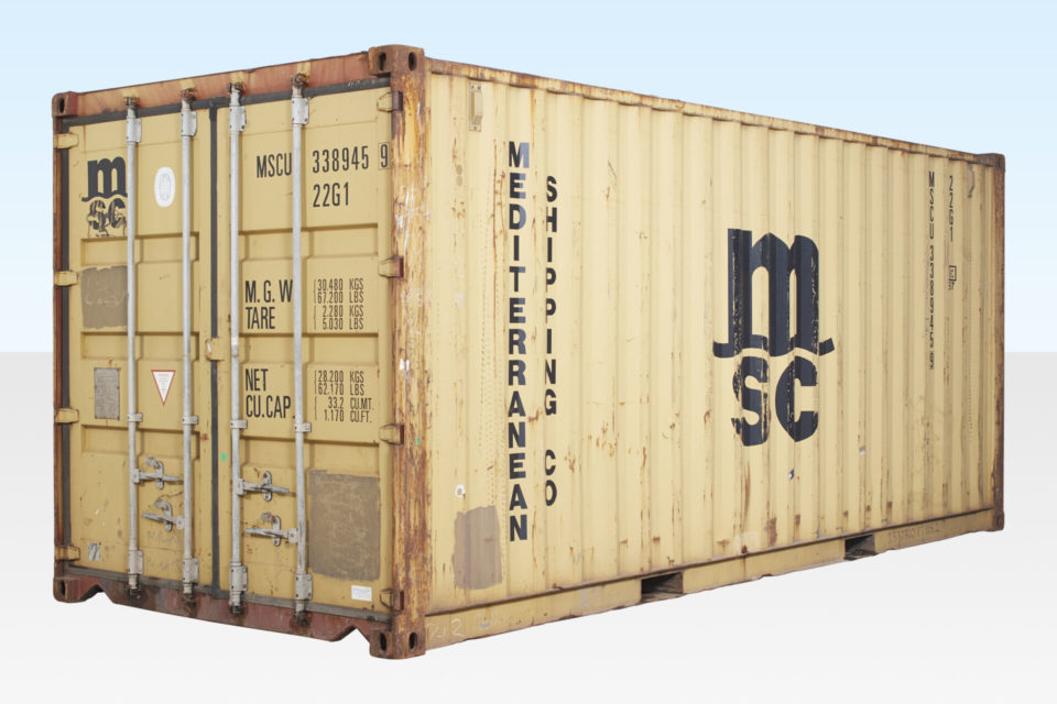 Cheap Used Shipping Container. 20ft. External View