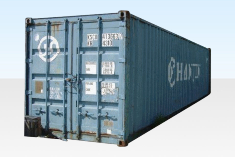 External View of Used 40ft Shipping Container