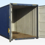 Used High Cube Container 20ft. Doors Open.