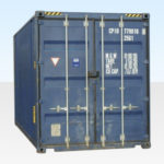 Used 20ft High Cube Shipping Container for Sale. Doors Closed.