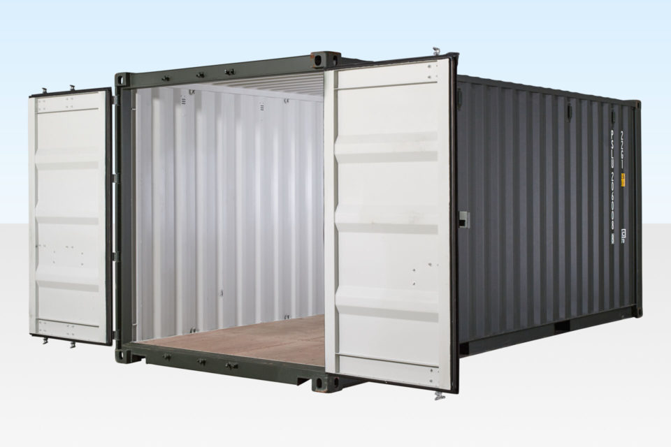 Shipping Container 20ft New / One-Trip - Doors Open