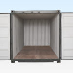 20ft Shipping Container - End View - Doors Open