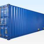 40ft Shipping Container - New - Blue - Exterior View
