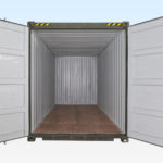 End View of 20ft High Cube Container - Doors Open