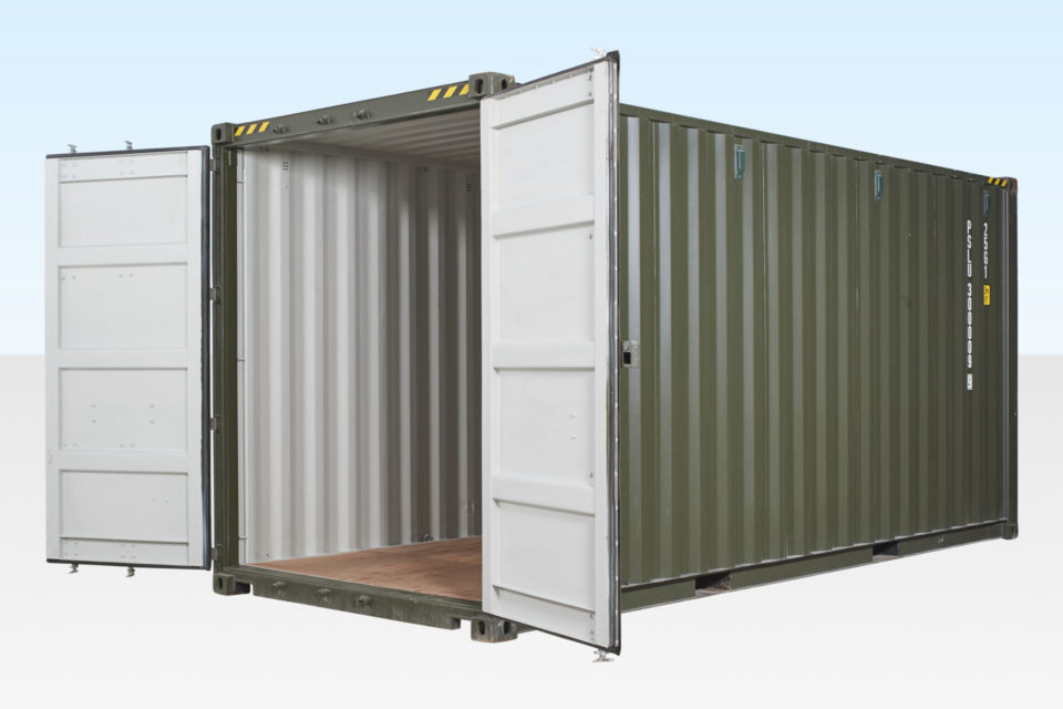 New High Cube Shipping Container - Doors Part Open