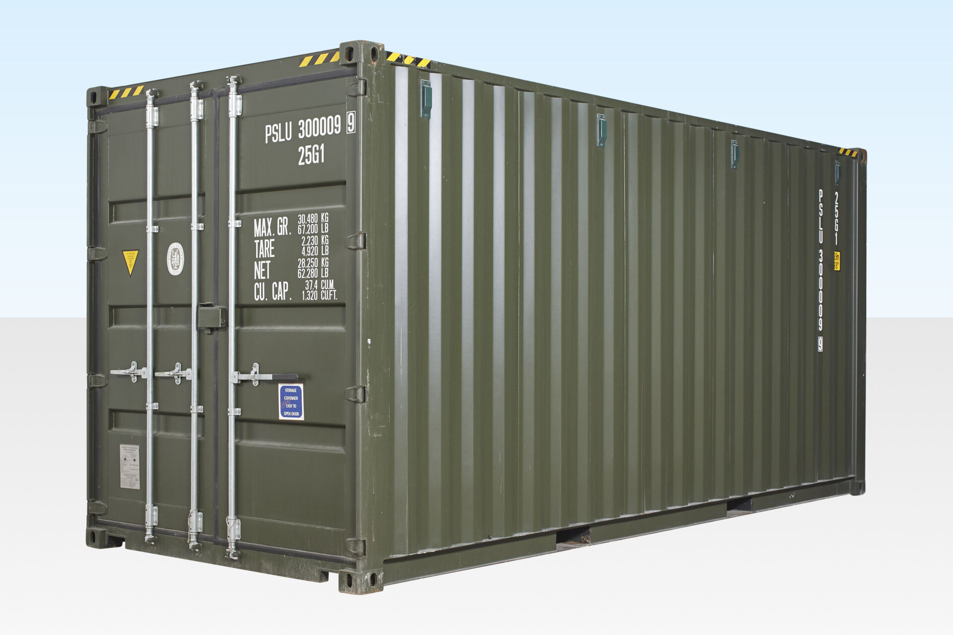20ft High Cube Container - One Trip (9ft 6' high)