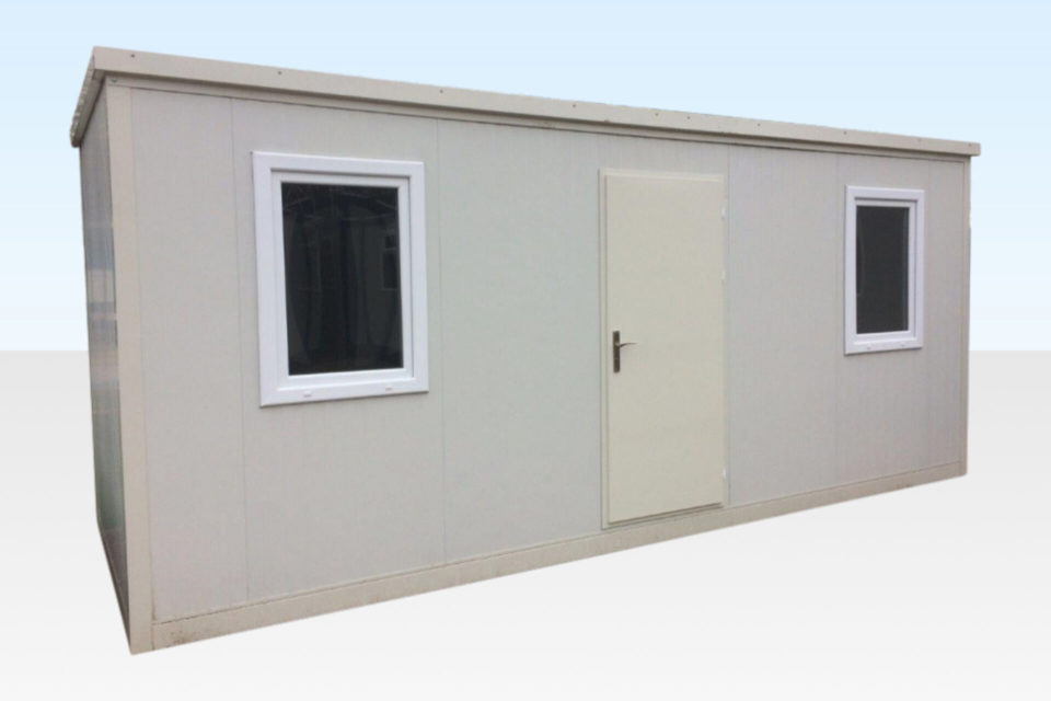 White 6m flat packed office