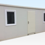 Large 6m Flat Pack Office Cabin. External View.