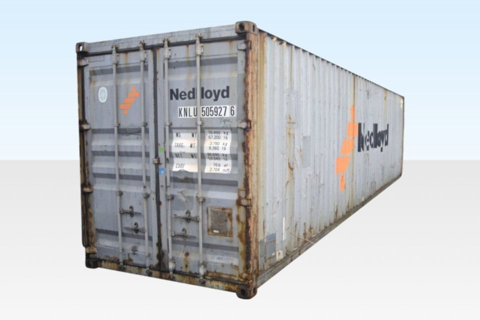 Used 40ft Shipping Container CSC Plated for Export