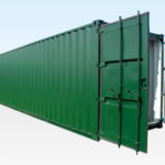 30ft Cut Down Shipping Container. Doors Open.