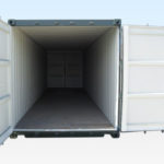 30ft Shipping Container. End Doors Open