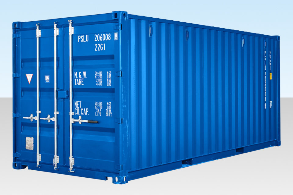 New Shipping Container for Sale - 20ft Blue RAL 5010