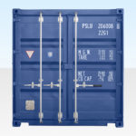 20ft Shipping Container - Blue - End Doors Closed