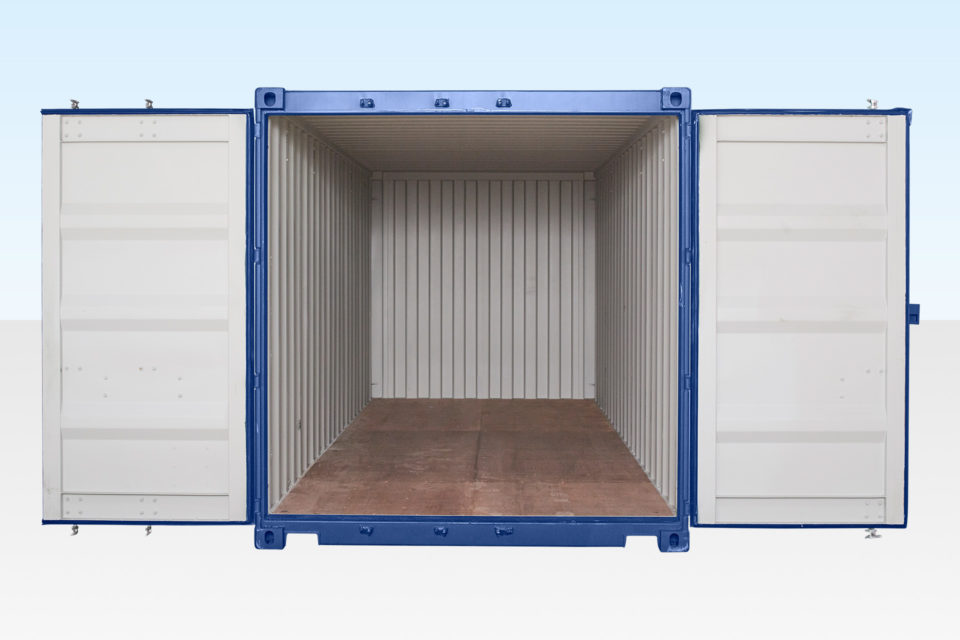 Internal View of 20ft Container - Doors Open