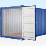 Profile View of 20ft Shipping Container - Doors Open