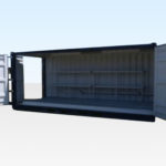 20ft Open Sided Bunded Container. Front and Side Doors Open