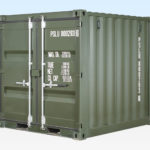 New 8ft Shipping Container. Dark Green. RAL6007