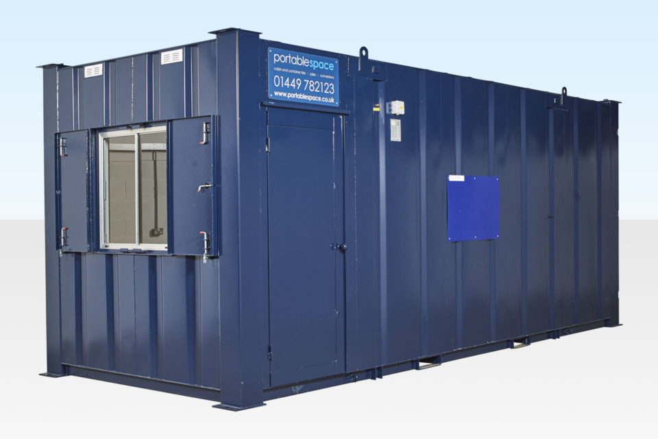 20ft Steel Office / Storage Cabin for Hire